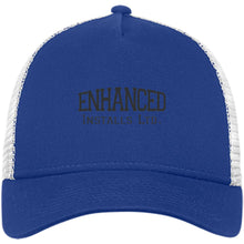 Load image into Gallery viewer, Enhanced Installs black embroidered NE205 New Era® Snapback Trucker Cap