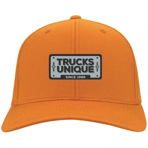 Trucks Unique black & silver embroidered logo C813 Port Authority Flex Fit Twill Baseball Cap