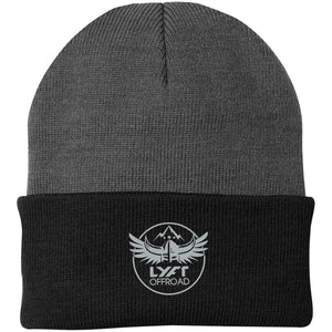 Lyft Off Road silver embroidered CP90 Port Authority Knit Cap