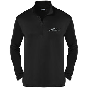 All Aspects Property silver embroidered ST357 Sport-Tek Competitor 1/4-Zip Pullover