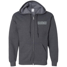 Load image into Gallery viewer, SASKINGZ silver embroidered logo G186 Gildan Zip Up Hooded Sweatshirt