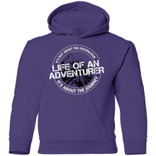 Load image into Gallery viewer, Life of an Adventurer G185B Gildan Youth Pullover Hoodie