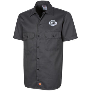 8450 fabrication silver embroidered 1574 Men's Short Sleeve Workshirt