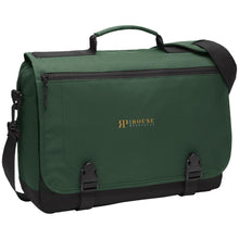 Load image into Gallery viewer, Rouse Projects - Gold & Silver embroidered BG304 Port Authority Messenger Briefcase