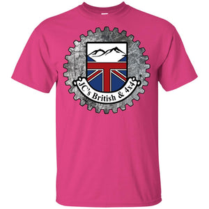 JC's British round logo G200B Gildan Youth Ultra Cotton T-Shirt