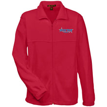 Load image into Gallery viewer, Roxtar Trux blue and silver embroidered logo M990 Harriton Fleece Full-Zip