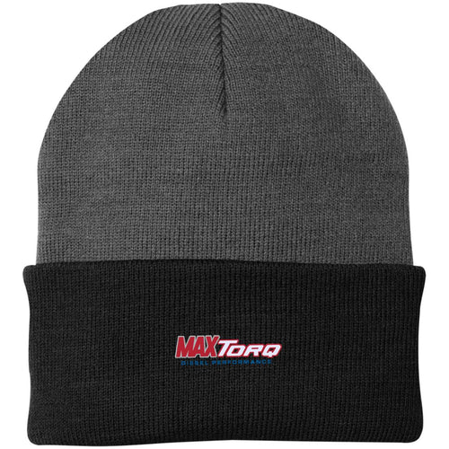 MaxTorq embroidered logo CP90 Port Authority Knit Cap