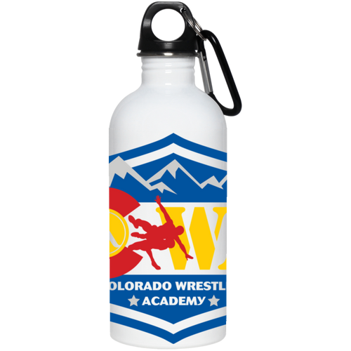 Colorado Wrestling Academy full wrap-around logo 23663 20 oz. Stainless Steel Water Bottle