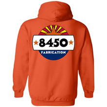 Load image into Gallery viewer, 8450 Fabrication 2-sided print G185 Gildan Pullover Hoodie 8 oz.