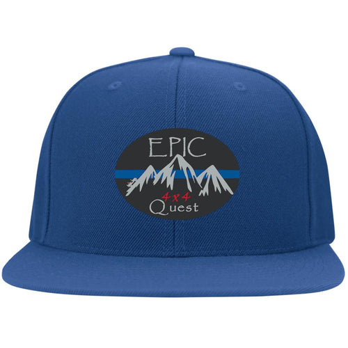EPIC 4x4 Quest embroidered logo 6297F Flat Bill Fulback Twill Flexfit Cap