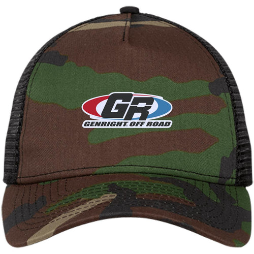 GenRight embroidered logo NE205 New Era® Snapback Trucker Cap