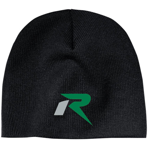 R silver & green embroidered CP91 100% Acrylic Beanie