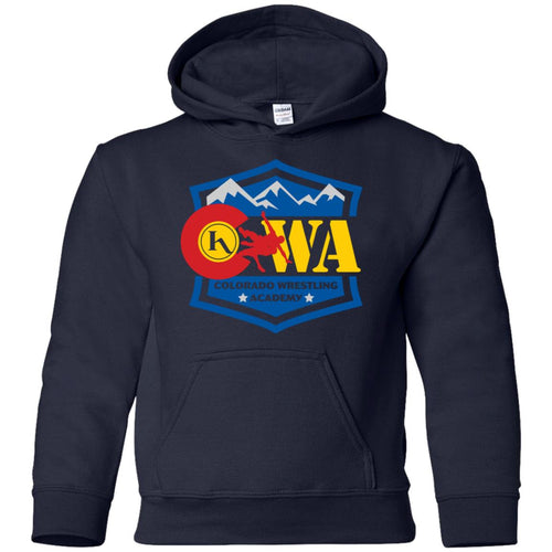 Colorado Wrestling Academy 2-sided print G185B Gildan Youth Pullover Hoodie