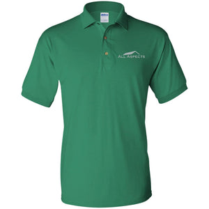All Aspects Property silver embroidered G880 Gildan Jersey Polo Shirt