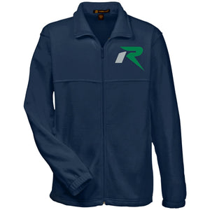 R silver & green embroidered M990 Harriton Fleece Full-Zip