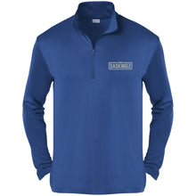 Load image into Gallery viewer, SASKINGZ silver embroidered logo ST357 Sport-Tek Competitor 1/4-Zip Pullover
