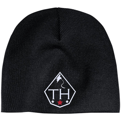 TH white embroidered logo CP91 100% Acrylic Beanie