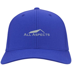 All Aspects Property silver embroidered C813 Port Authority Flex Fit Twill Baseball Cap