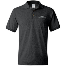 Load image into Gallery viewer, All Aspects Property silver embroidered G880 Gildan Jersey Polo Shirt