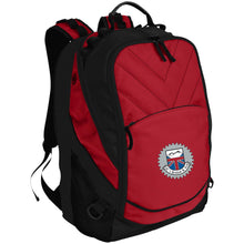 Load image into Gallery viewer, JC's British silver embroidered logo BG100 Port Authority Laptop Computer Backpack