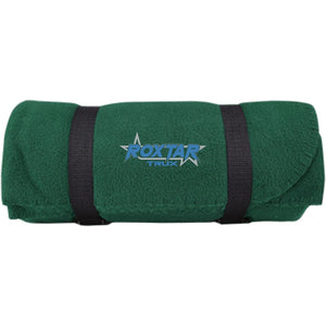 Roxtar Trux blue and silver embroidered logo BP10 Port & Co. Fleece Blanket