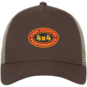 High Country original embroidered logo NE205 New Era® Snapback Trucker Cap