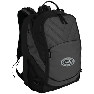 HCP4x4 silver & black embroidered logo BG100 Port Authority Laptop Computer Backpack