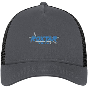 Roxtar Trux blue and silver embroidered logo NE205 New Era® Snapback Trucker Cap