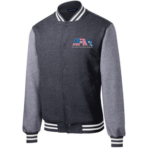 AFA embroidered logo ST270 Sport-Tek Fleece Letterman Jacket