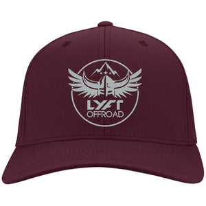 Lyft Off Road silver embroidered C813 Port Authority Flex Fit Twill Baseball Cap