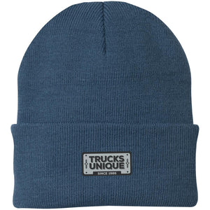 Trucks Unique black & silver embroidered logo CP90 Port Authority Knit Cap