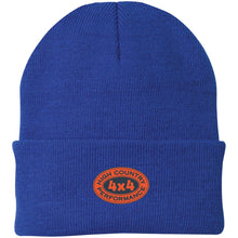 Load image into Gallery viewer, HCP4x4 orange & blue embroidered logo CP90 Port Authority Knit Cap