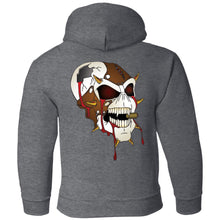 Load image into Gallery viewer, Dark Side Racing 2-sided print w/ skull on back G185B Gildan Youth Pullover Hoodie