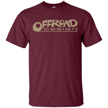 Load image into Gallery viewer, Offroad Design beige logo G200B Gildan Youth Ultra Cotton T-Shirt