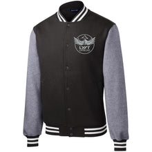 Load image into Gallery viewer, Lyft Off Road silver embroidered ST270 Sport-Tek Fleece Letterman Jacket