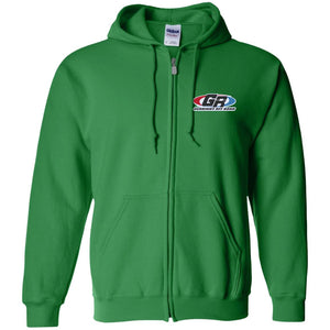 GenRight embroidered logo G186 Gildan Zip Up Hooded Sweatshirt