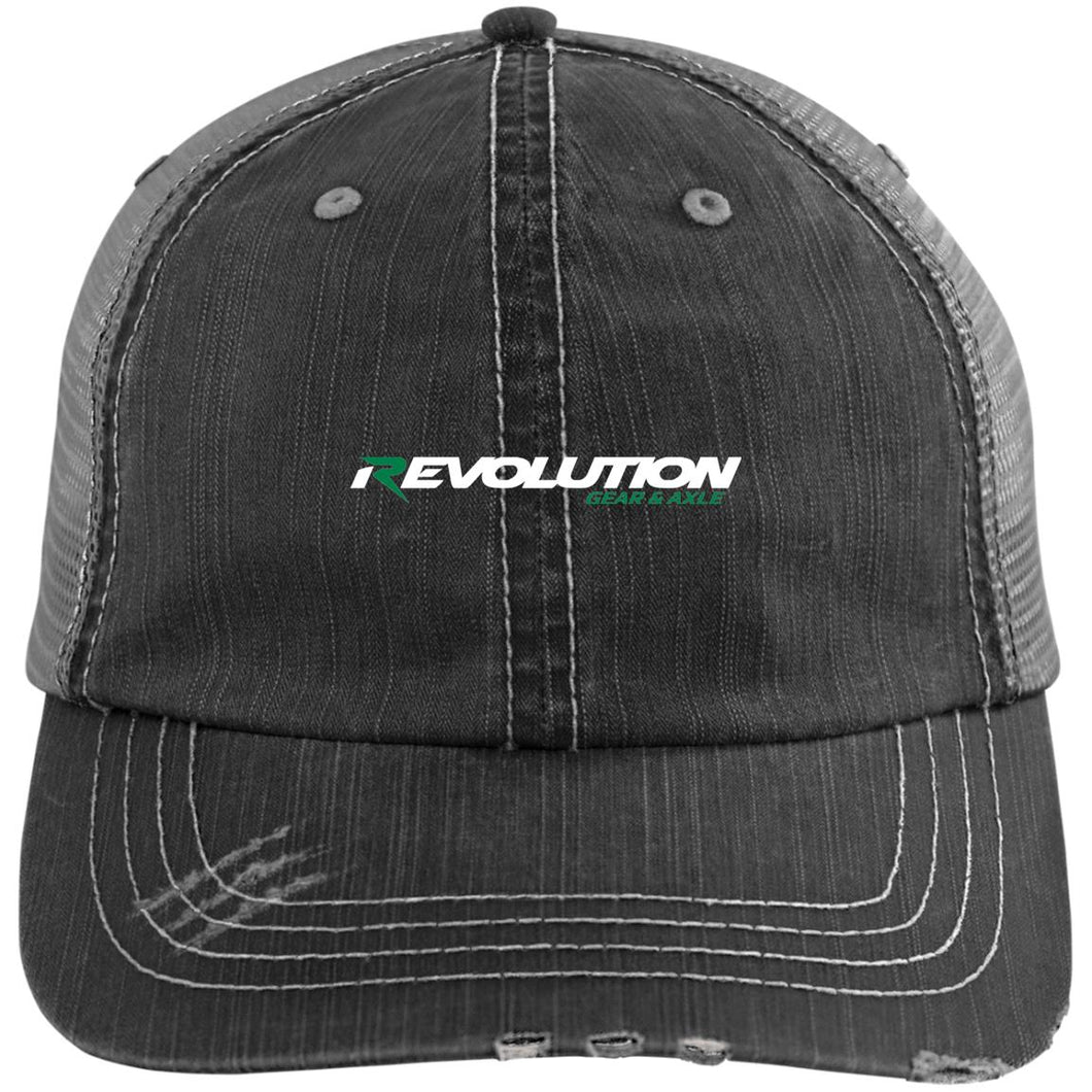 Revolution embroidered 6990 Distressed Unstructured Trucker Cap