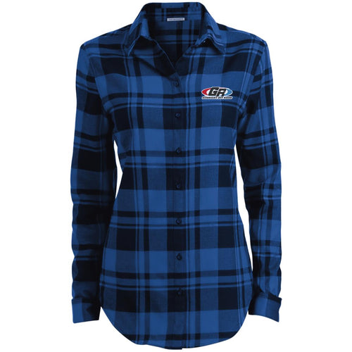 GenRight embroidered logo LW668 Ladies' Plaid Flannel Tunic