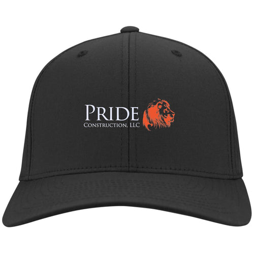 Pride white and orange embroidered logo C813 Fullback Flex Fit Twill Baseball Cap