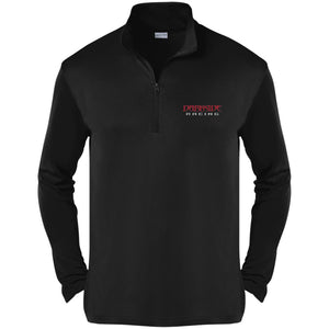 Dark Side Racing red. black & silver embroidered ST357 Sport-Tek Competitor 1/4-Zip Pullover