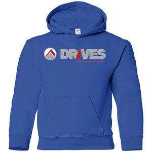 Drives light logo G185B Gildan Youth Pullover Hoodie