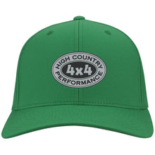 Load image into Gallery viewer, HCP4x4 silver & black embroidered logo C813 Port Authority Flex Fit Twill Baseball Cap
