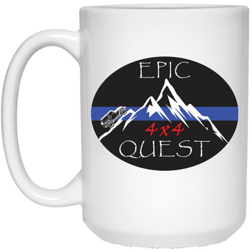 Epic 4x4 Quest 21504 15 oz. White Mug