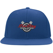 Load image into Gallery viewer, Sin City embroidered 6297F Flat Bill Fulback Twill Flexfit Cap