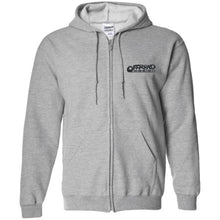 Load image into Gallery viewer, Offroad Design embroidered logo G186 Gildan Zip Up Hooded Sweatshirt