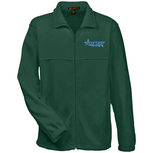 Roxtar Trux blue and silver embroidered logo M990 Harriton Fleece Full-Zip