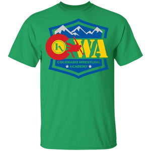 Colorado Wrestling Academy 2-sided print G500B Gildan Youth 5.3 oz 100% Cotton T-Shirt