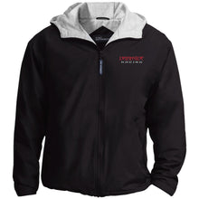 Load image into Gallery viewer, Dark Side Racing red. black & silver embroidered JP56 Port Authority Team Jacket