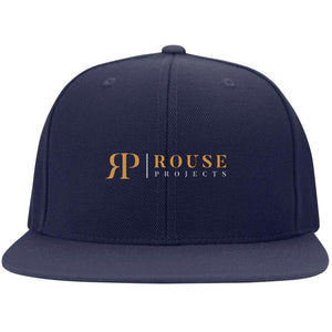 Rouse Projects - Gold & Silver embroidered STC19 Sport-Tek Flat Bill High-Profile Snapback Hat