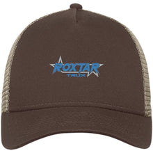 Load image into Gallery viewer, Roxtar Trux blue and silver embroidered logo NE205 New Era® Snapback Trucker Cap